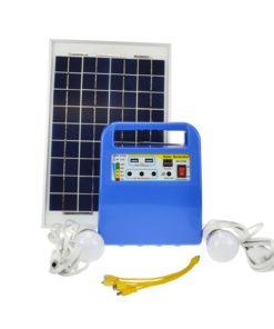 10W Solar Lighting Kit Home Light with 12V LED Bulbs