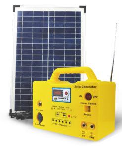 30W Solar Lighting Kit Home Light with Lithium Battery