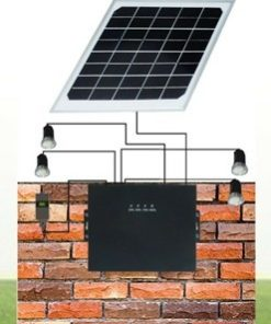 8W Solar Lighting Kit with LED Bulb and Lithium Battery