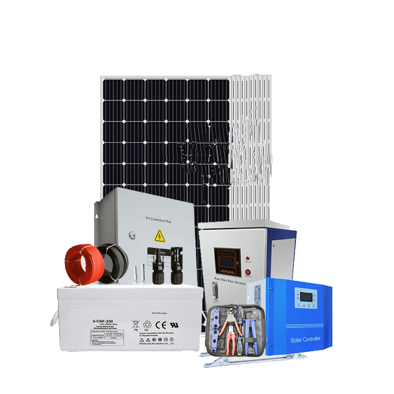 3kw 5kw 10kw 20kw off grid solar energy system pv system for home use