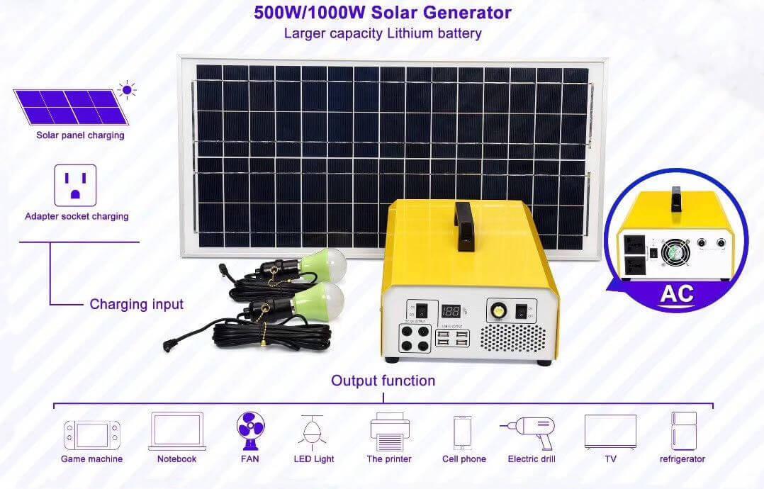 500w 1000w Solar Generator Solar Panel Kit